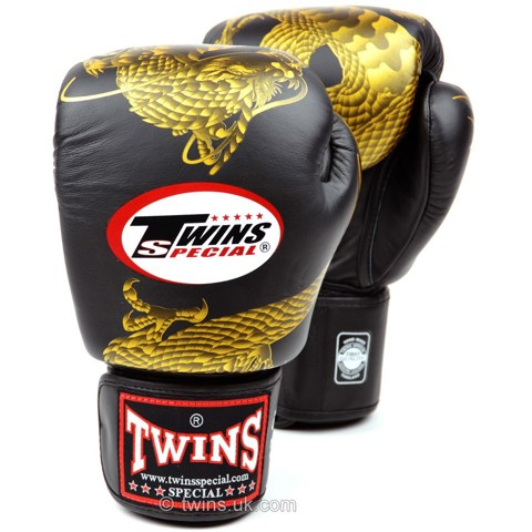 GĂNG TAY TWINS DRAGON BOXING GLOVES - BLACK/GOLD