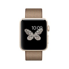 Apple Watch Series 2 42mm Gold Woven Nylon Band - MNPP2LL/A