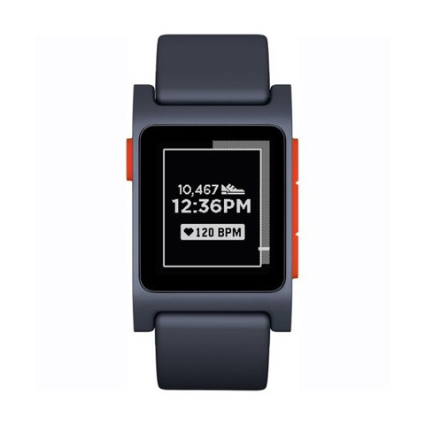 Đồng hồ Pebble 2 HR Smartwatch (Black/Flame)