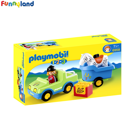 Playmobil 6958 Car with Horse Trailer