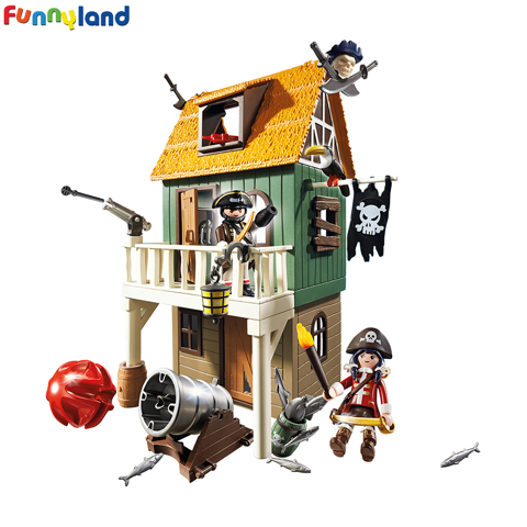 Playmobil 4796 Camouflage Pirate Fort with Ruby