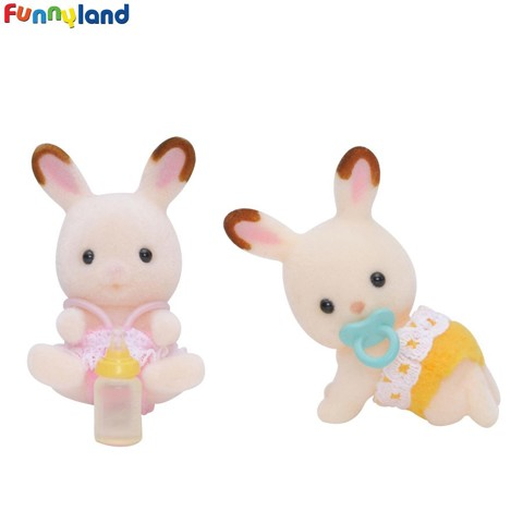 Sylvanian Families - Chocolate Rabbit Twins