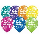 Bong bóng in chữ Happy Birthday đủ màu / 10cái - Happy birthday latex balloon multicolour 10 pcs
