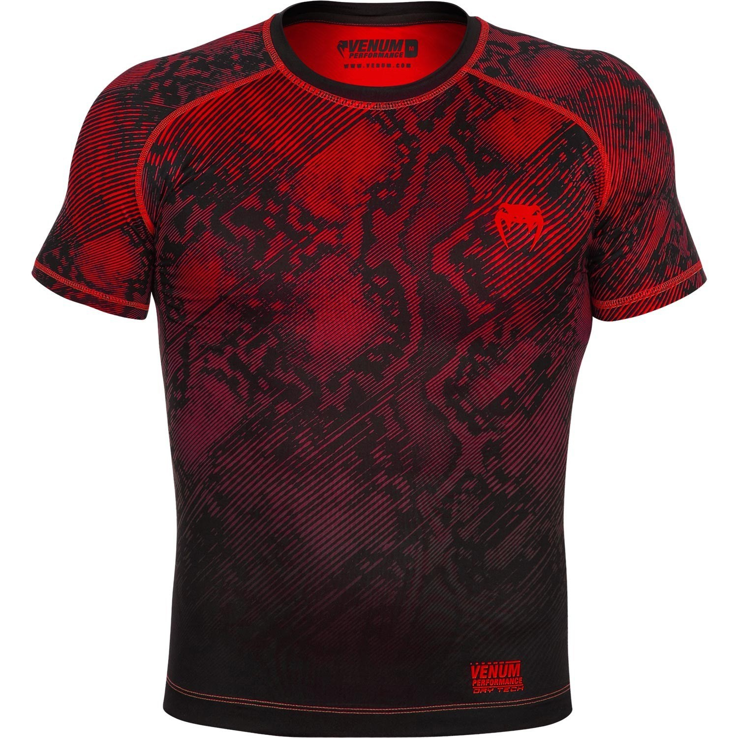 ÁO VENUM FUSION COMPRESSION T-SHIRT - SHORT SLEEVES - BLACK/RED
