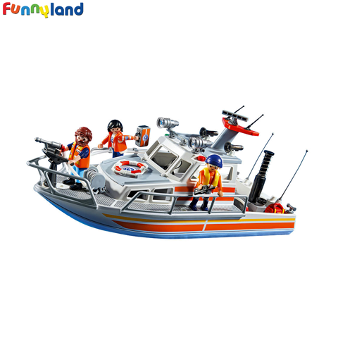 Playmobil 5540 Rescue Boat with Water Hose