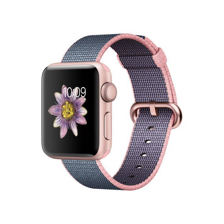  Apple Watch Series 2 38mm Rose Gold - Woven Nylon Band - MNP02LL/A