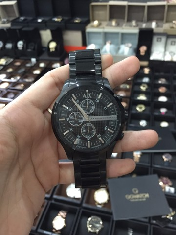 Armani Exchange Black Dial Chronograph Unisex Watch