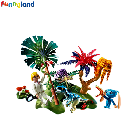 Playmobil 6687 Lost Island with Alien and Raptor