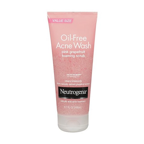 SRM Neutrogena Oil Free Acne Wash Pink Grapefruit Scrubs 198ml