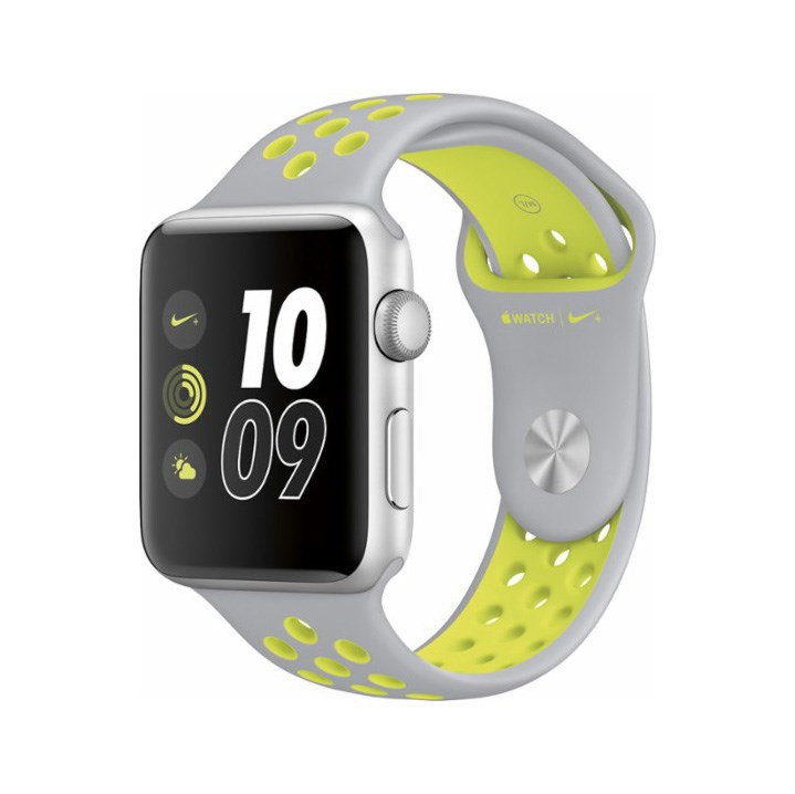  Apple Watch Nike+ 42mm Silver Aluminum Case Silver/Volt Nike Sport Band