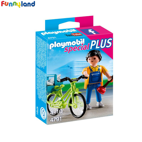 Playmobil 4791 Handyman With Bike