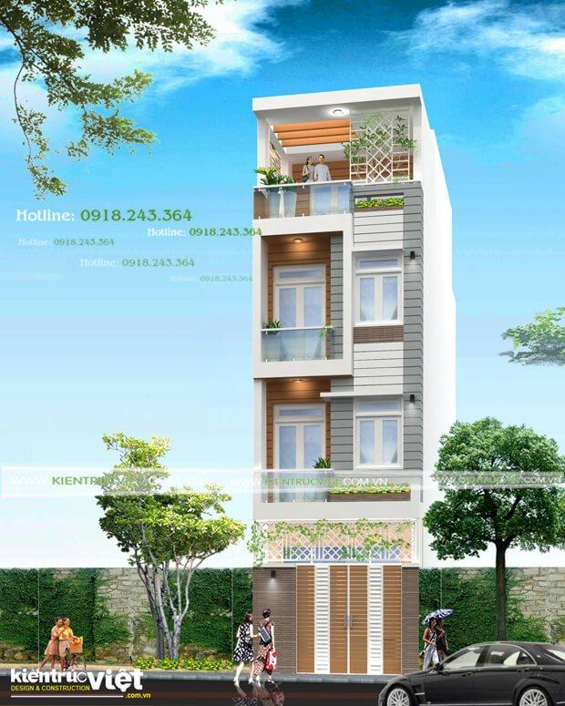 Tư vấn kiến trúc nhà phố 4x12, 4 PN tại Bình Thạnh