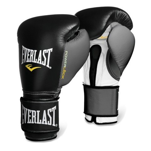 GĂNG TAY EVERLAST POWERLOCK HOOK & LOOP TRAINING GLOVES - BLACK/GREY