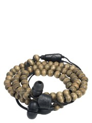 WRAPS Natural Wristband Headphones WRAPSWBRN  (S) WALNUT