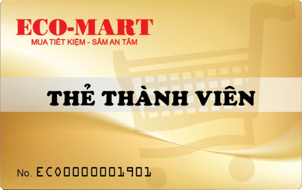 Eco-Mart Ưu đãi thẻ thành viên với khách hàng thân thiết