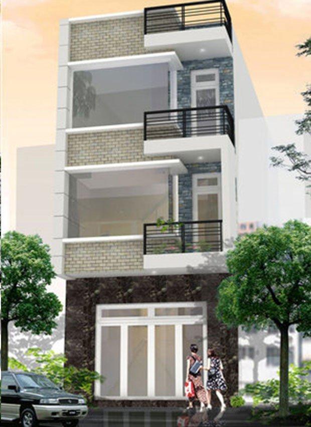 Nhà phố mặt tiền 5m, Giải pháp nhà lệch tầng
