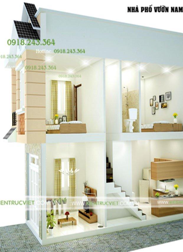 Cách bố trí không gian cho nhà nhỏ xinh 40m2