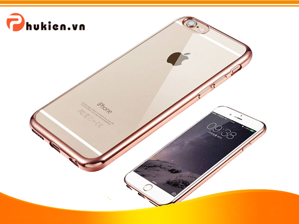 Ốp Silicon Dẻo Viền Màu iPhone 6 Plus/ 6S Plus (Rose Gold)