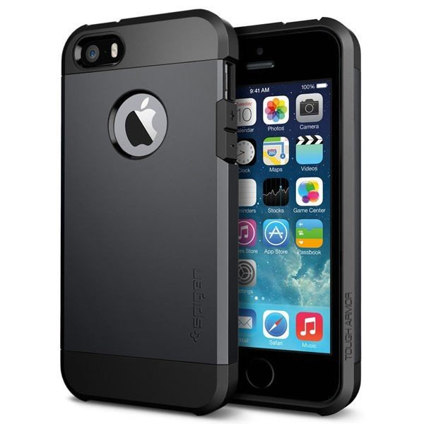 Vỏ iPhone 5/5S SGP Tough Armor (Black)