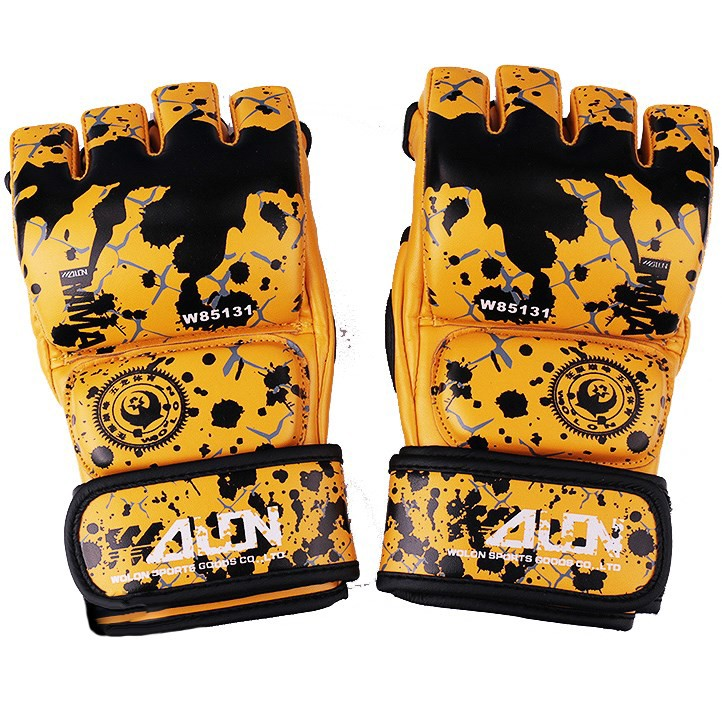 GĂNG TAY MMA WOLON BLOOD 2 GLOVES - YELLOW