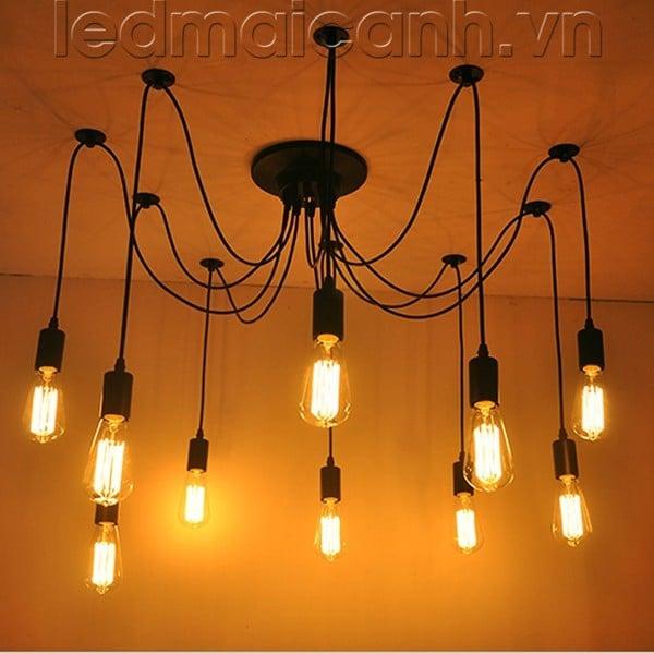 đèn chùm đẹp giá rẻ, bộ đèn thả spider, bộ đèn thả nhện