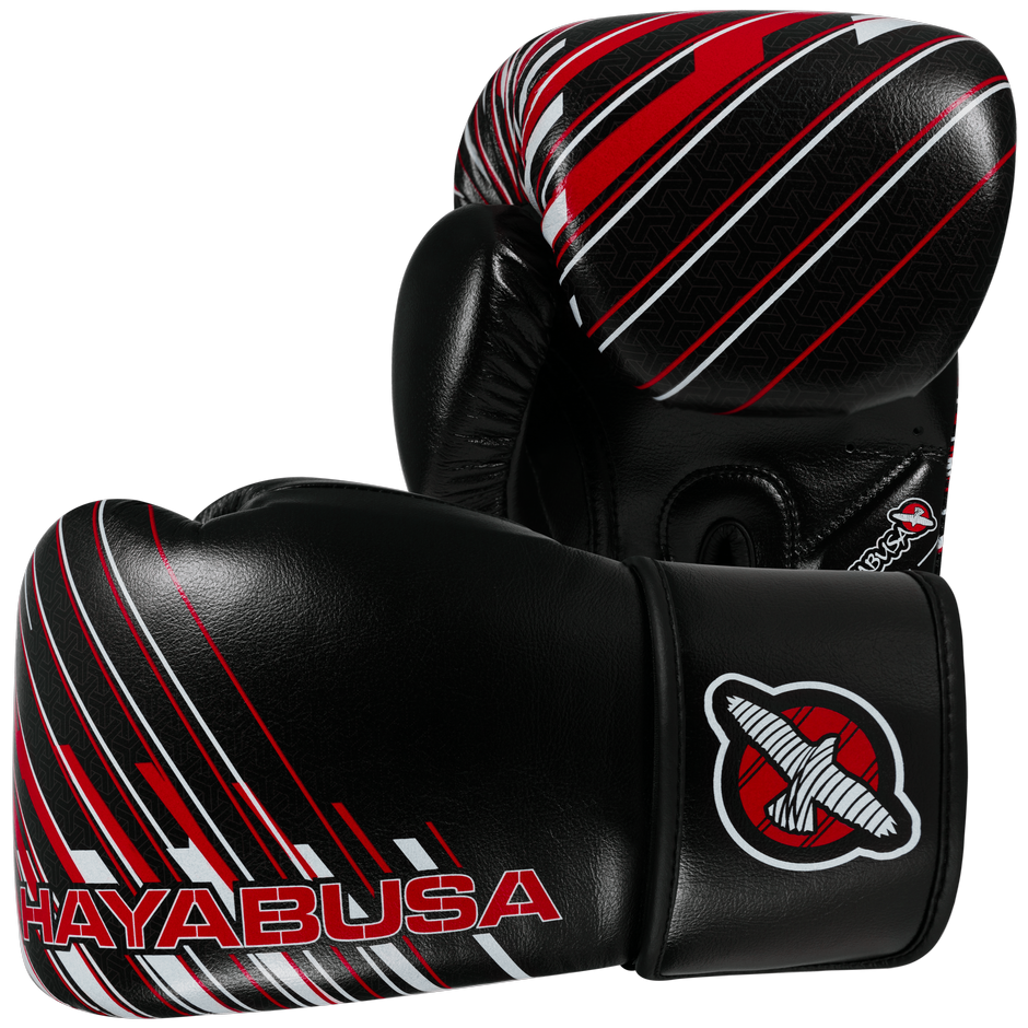 GĂNG TAY HAYABUSA IKUSA CHARGED 14OZ GLOVES - BLACK/RED