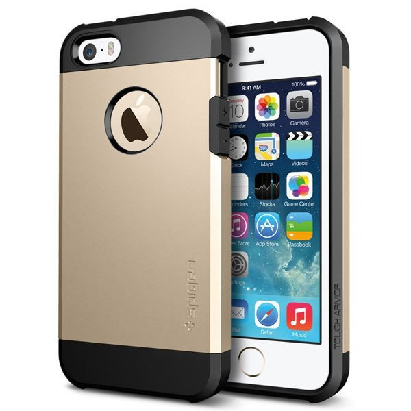 Vỏ iPhone 5/5S SGP Tough Armor (Gold Champange)