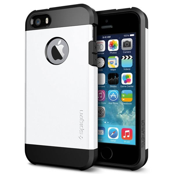 Vỏ iPhone 5/5S SGP Tough Armor (White)