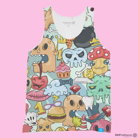 Graffity Skull - Tank Top