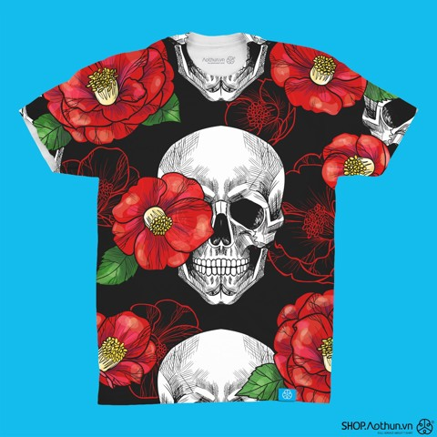 Skull And Red Camellia