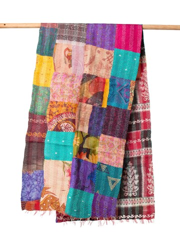 The String Theory Silk Kantha Scarf