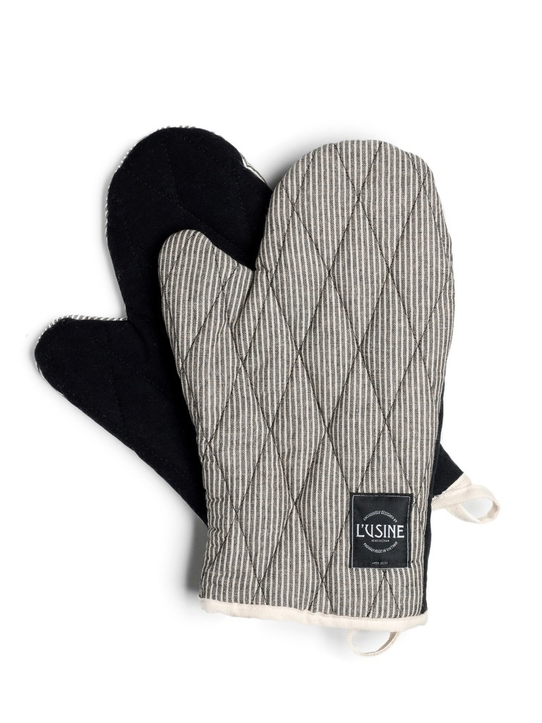 Gloves In Black Stripe