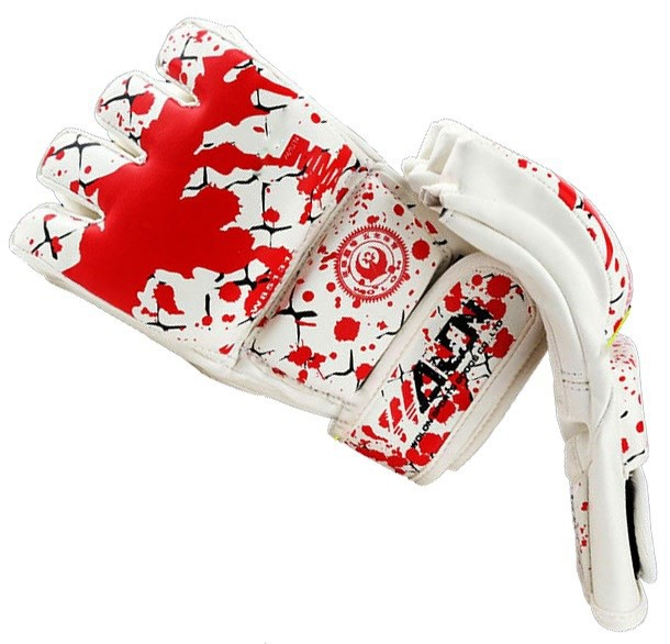 GĂNG TAY MMA WOLON BLOOD 2 GLOVES - WHITE