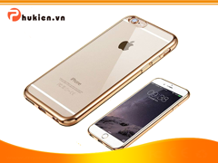 Ốp Silicon Dẻo Viền Màu iPhone 6 Plus / 6S Plus (Gold)