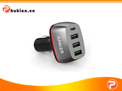 Sạc Ô TÔ Anker PowerDrive+ 4  [Qualcomm Quick Charge 3.0]