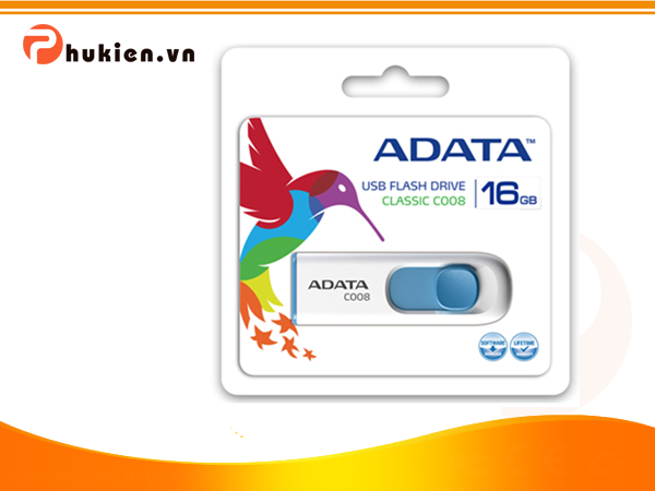 USB Adata C008-16Gb - White