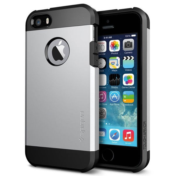 Vỏ iPhone 5/5S SGP Tough Armor (Silver)