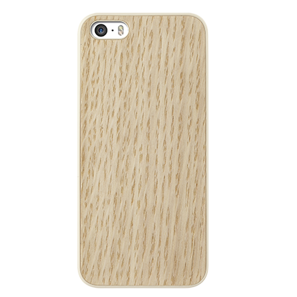 Vỏ iPhone 5 Ozaki 0.3 + Wood (White Oak)