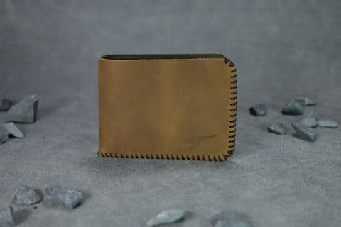 VÍ da nam Mini Bifold Wallet Yellow Wood