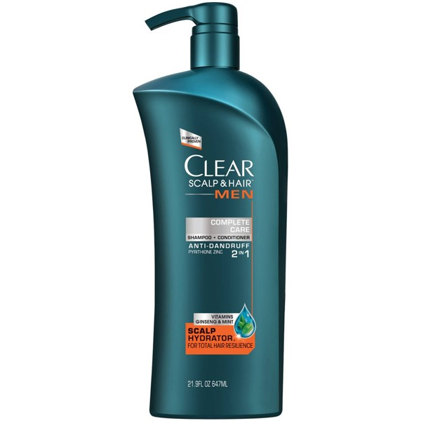 Dầu gội - xả Clear Men Complete Care 647ml