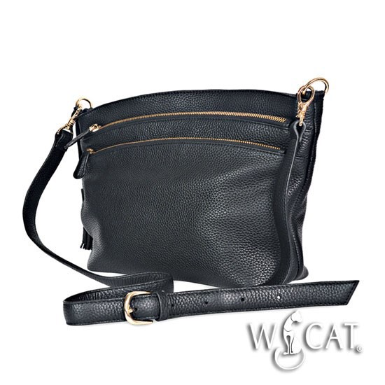 10682016 TRIPLE ZIP CLOSURE CROSS-BODY Bag