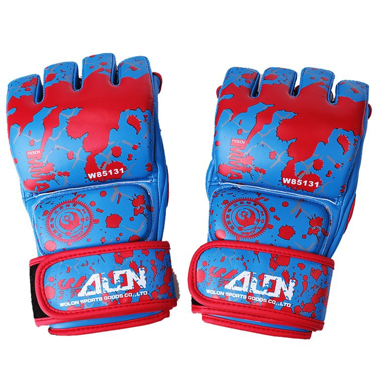 GĂNG TAY MMA WOLON BLOOD 2 GLOVES - BLUE
