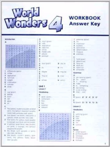 World Wonders 4: Workbook without key