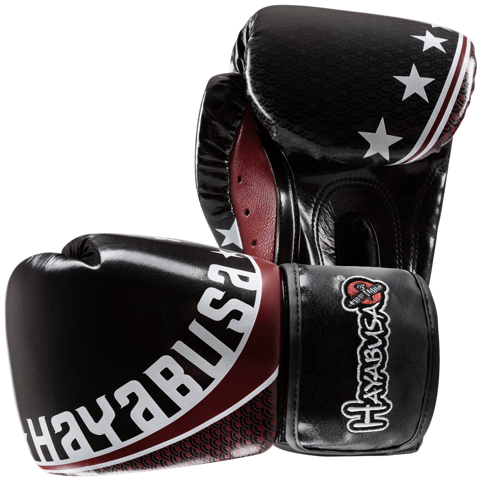 GĂNG TAY HAYABUSA PRO MUAY THAI 10OZ GLOVES - BLACK