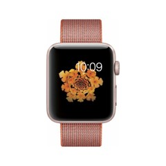  Apple Watch Series 2 42mm Rose Gold Aluminum - Woven Nylon Band - MNPM2LL/A