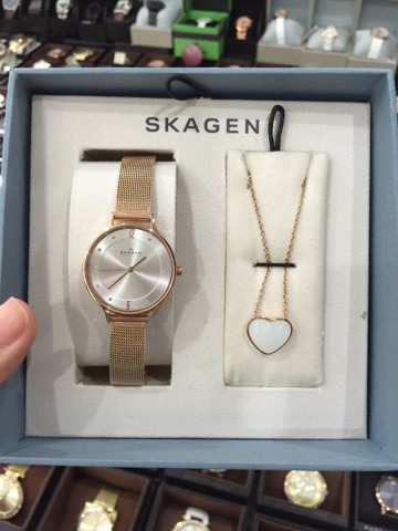 Skagen Anita Analog Rose Gold Dial Women's Watch - SKW1072