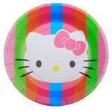 Dĩa giấy ăn Hello Kitty 23cm 6/gói - Hello Kitty paper plates 9