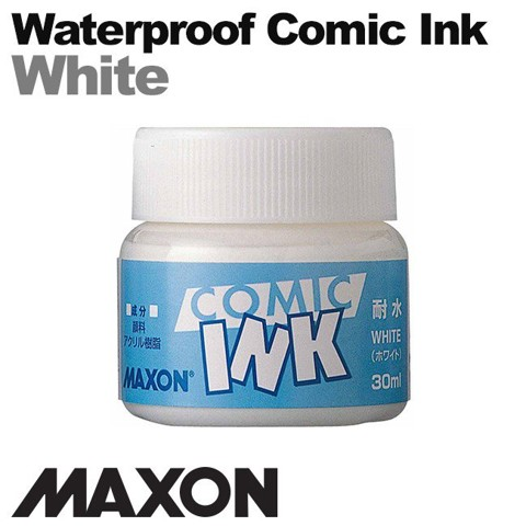 Mực vẽ comic Maxon, waterproof White