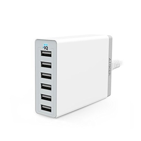 Sạc tường Anker 60W 6-Port Desktop Charger (White) Offline Packaging A2123J21