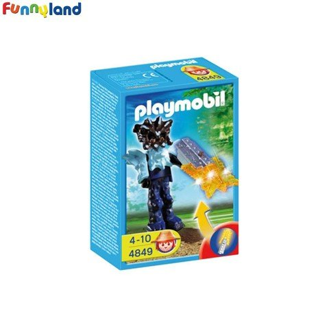 Playmobil 4849 Templeguard With Orange Light Weapon